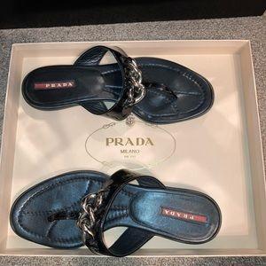 Prada Black Sandals Size 37